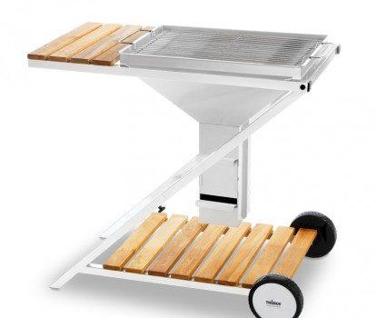 Holzkohle-Grillstation